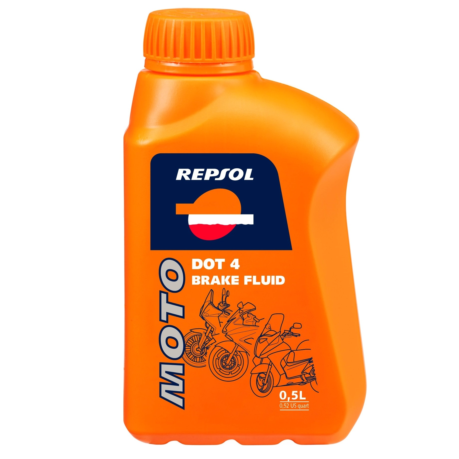 REPSOL MOTO DOT 4 BRAKE FLUID 500 ml RP713A56