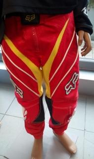 Motokrosové kalhoty FOX STRAFER Racepants KIDS červeno žluté empty 7879c713fa