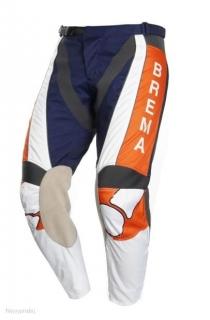 Moto kalhoty BREMA TROFEO modro oranžové empty cc96df3c5f